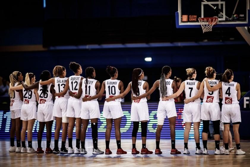 Les 12 (!!!) joueuses médaillées de l'équipe de France U17